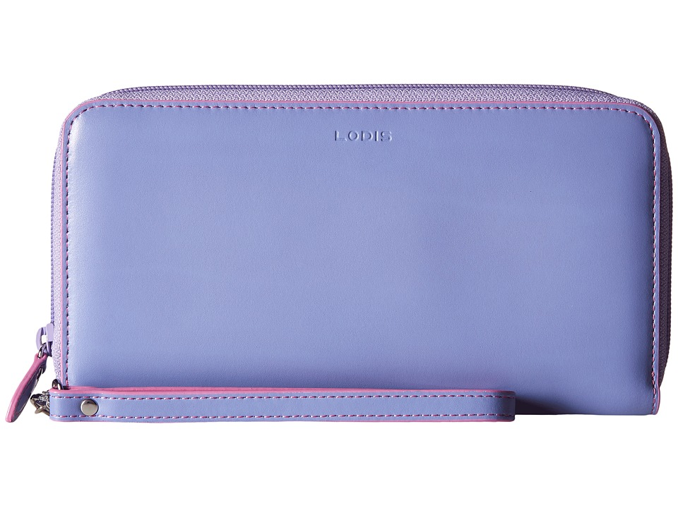 Lodis Accessories - Audrey Vera Wristlet Wallet (Lilac/Rose) Wallet Handbags
