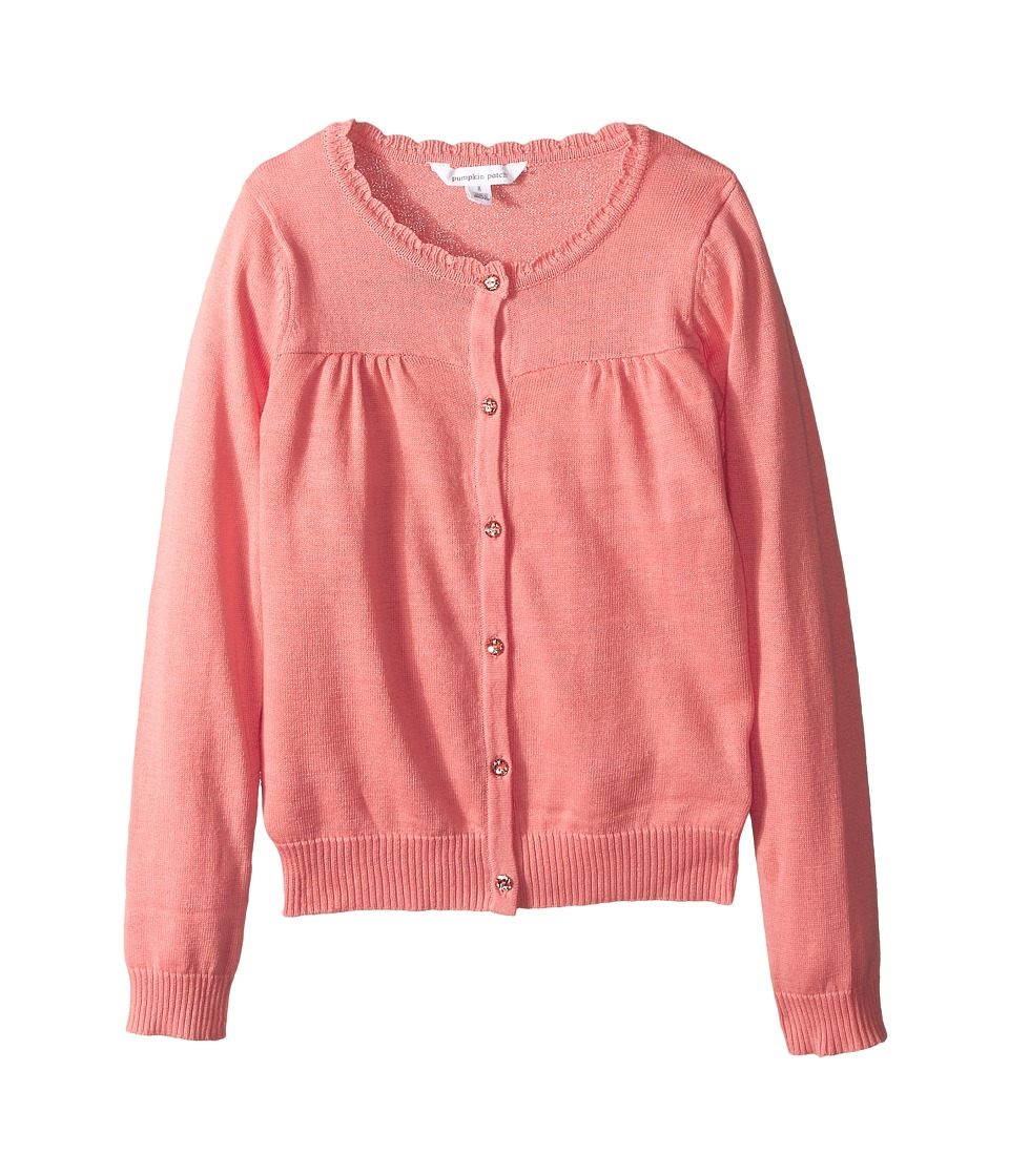 Pumpkin Patch Kids - Core Essentials Carly Rose Cardigan (Infant/Toddler/Little Kids/Big Kids) (Desert Flower) Girl's Sweater