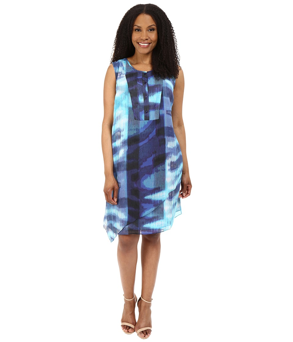 NIC+ZOE - Plus Size Blue Lagoon Tunic Dress (Multi) Women's Dress