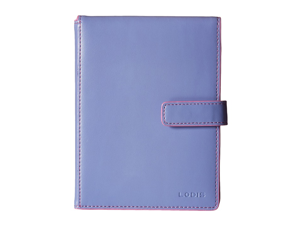 Lodis Accessories - Audrey Passport Wallet w/ Ticket Flap (Lilac/Rose) Checkbook Wallet