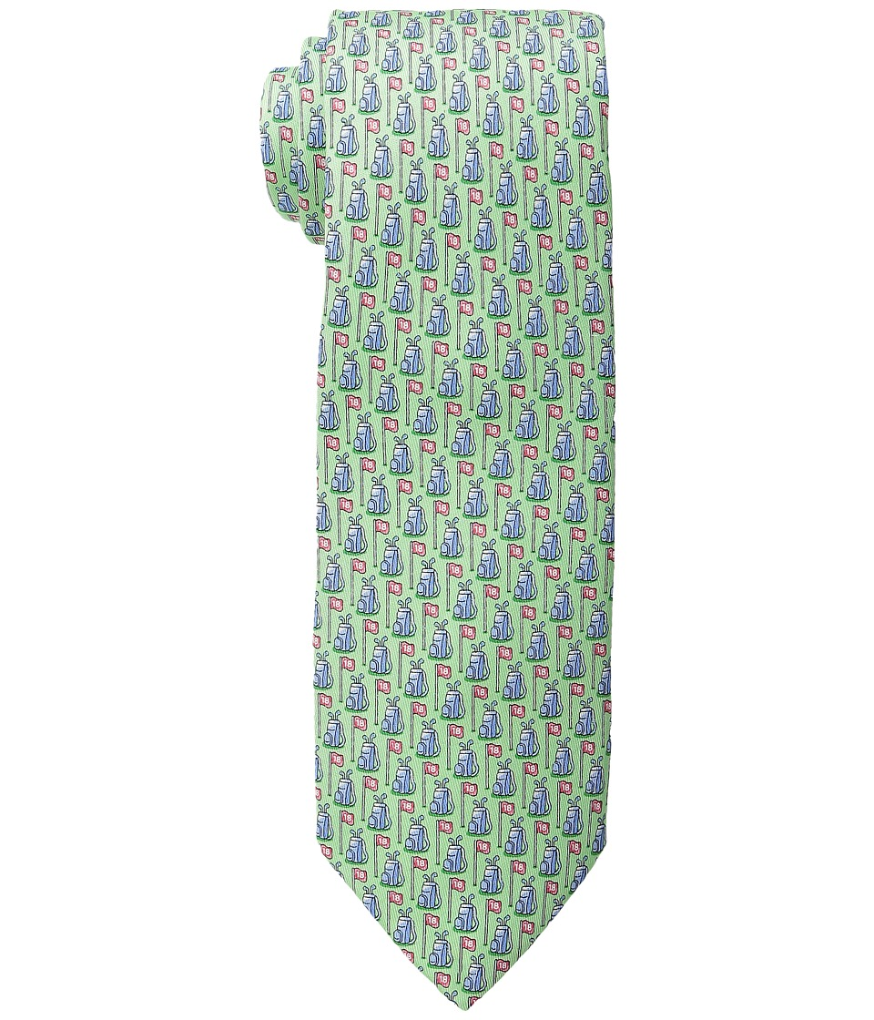 Vineyard Vines - Printed Tie-Golf Bags Flags (Antigua Green) Ties