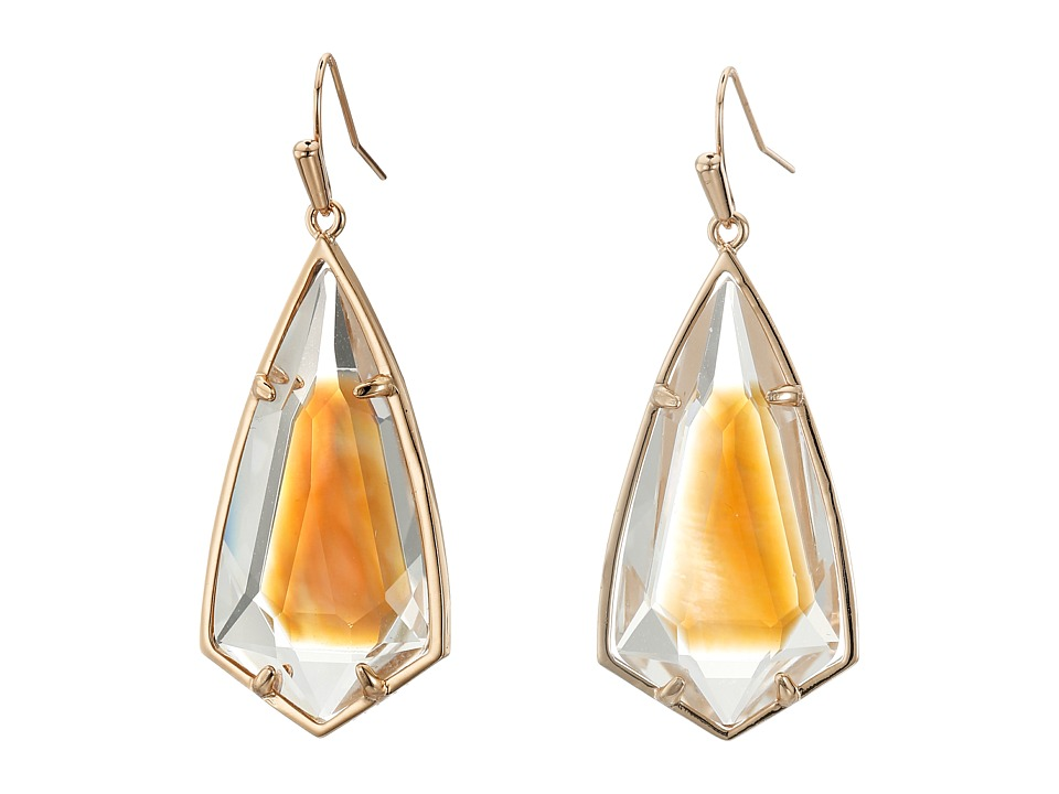 Kendra Scott - Carla Earrings (Rose Gold/Brown Mother-of-Pearl) Earring