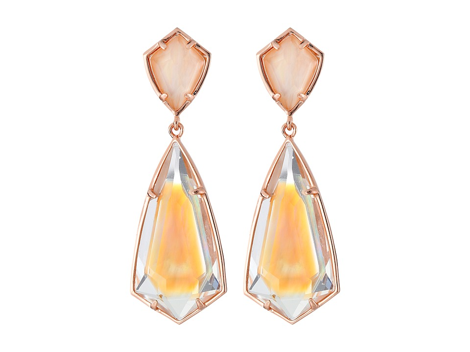 Kendra Scott - Carey Earrings (Rose Gold/Brown Mother-of-Pearl) Earring