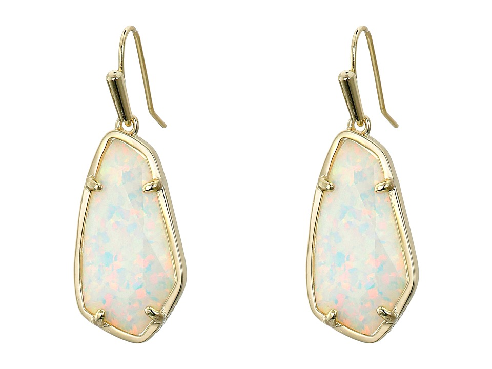 Kendra Scott - Camelia Earrings (Gold/White Kyocera Opal) Earring