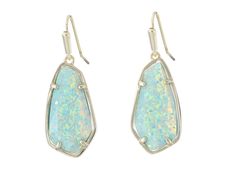 Kendra Scott - Camelia Earrings (Gold/Aqua Kyocera Opal) Earring