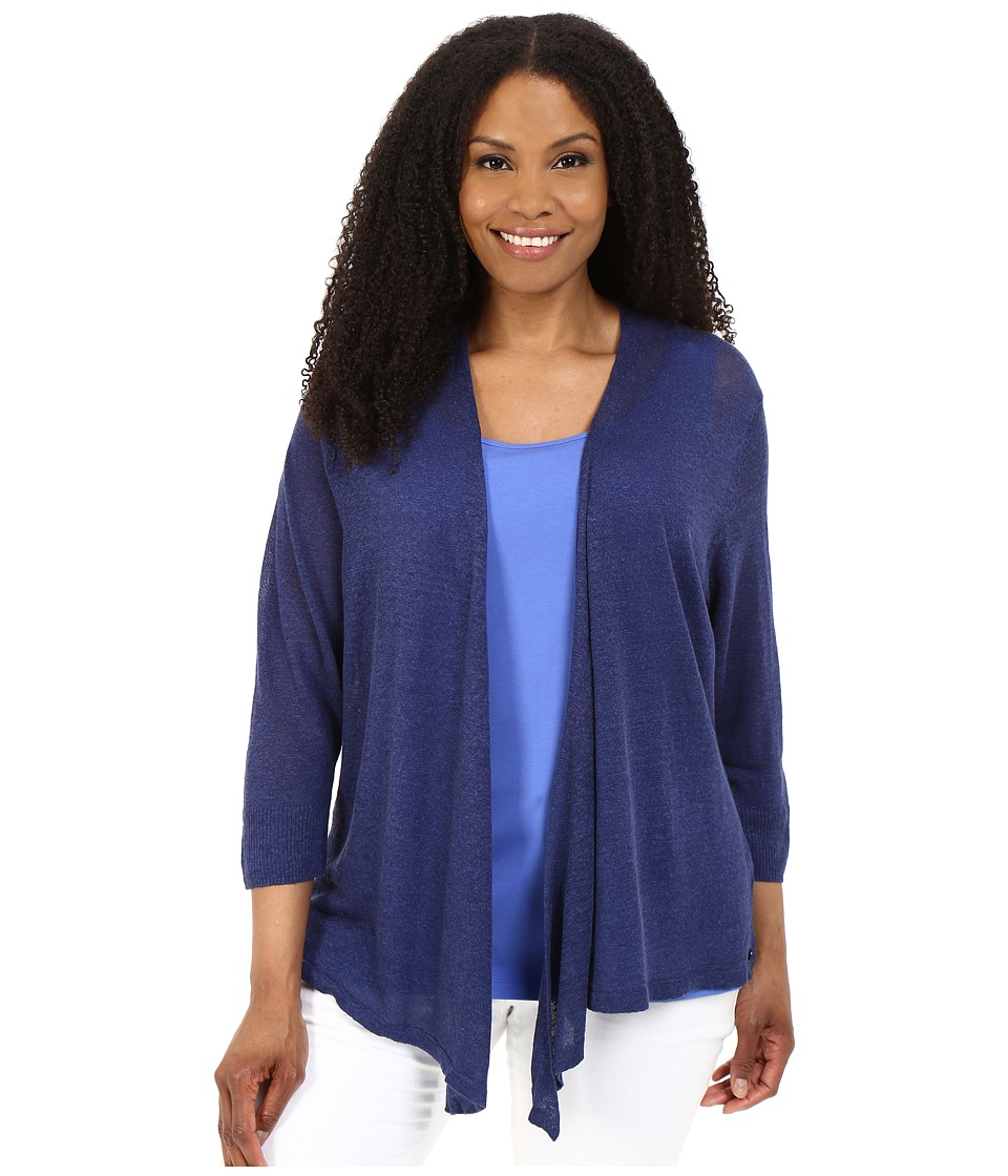 NIC+ZOE - Plus Size 4-Way Cardy (Abyss) Women's Sweater