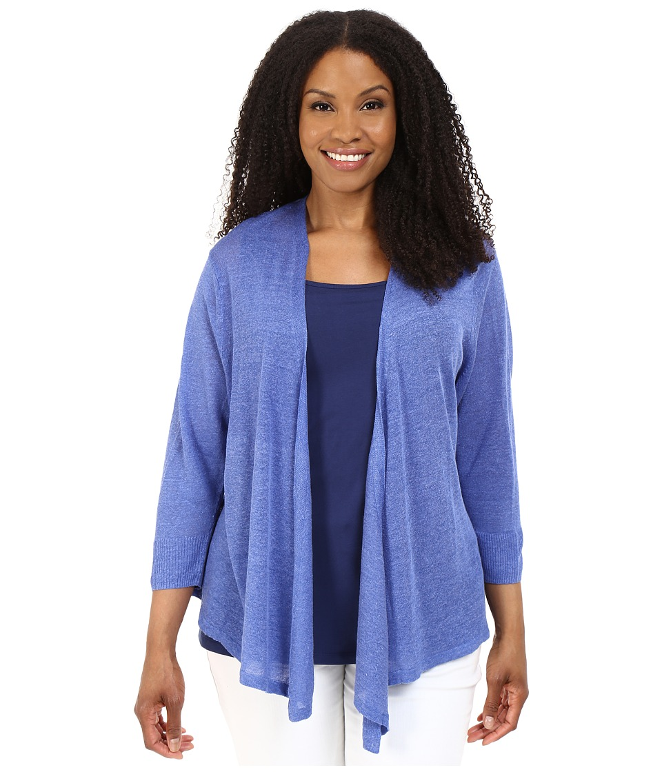 NIC+ZOE - Plus Size 4-Way Cardy (Gulf) Women's Sweater