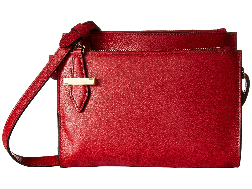 Lodis Accessories - Stephanie RFID Under Lock Key Trisha Double Zip Wallet on a String (Red) Wallet Handbags