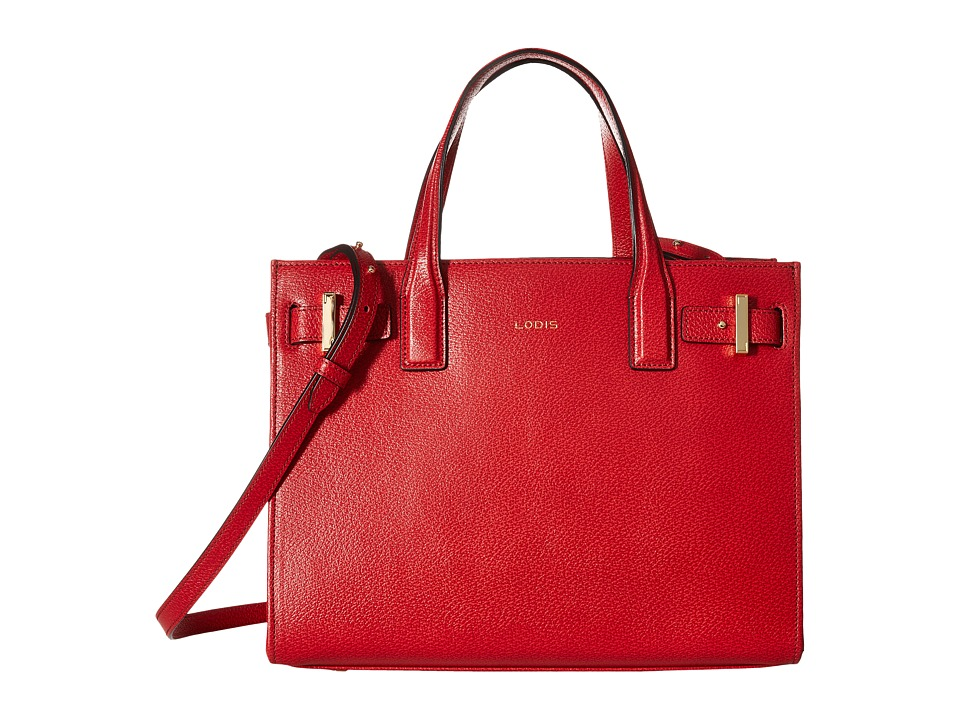 Lodis Accessories - Stephanie RFID Under Lock Key Tara Satchel (Red) Satchel Handbags