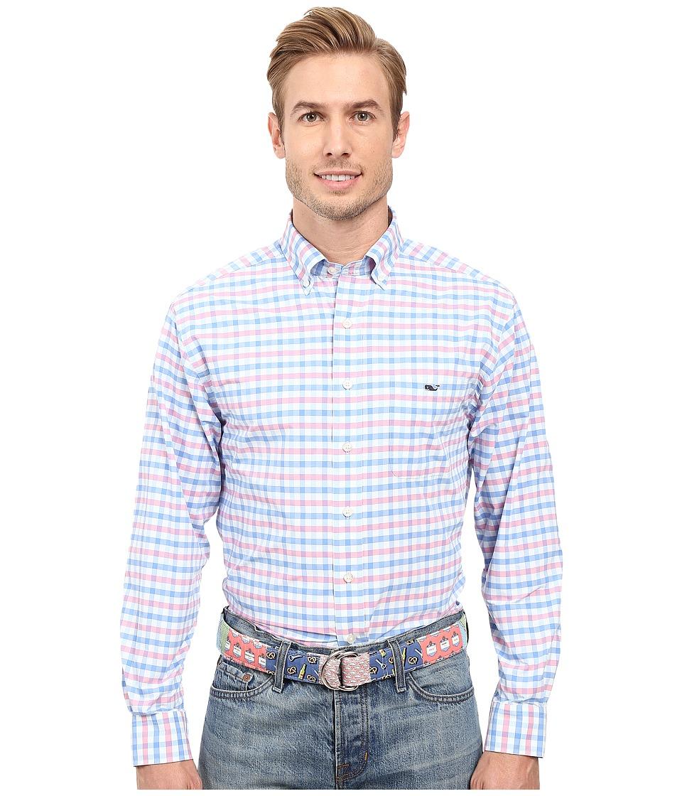 Vineyard Vines - Spincast Gingham Classic Tucker Shirt (Bahama Breeze) Men's Long Sleeve Button Up