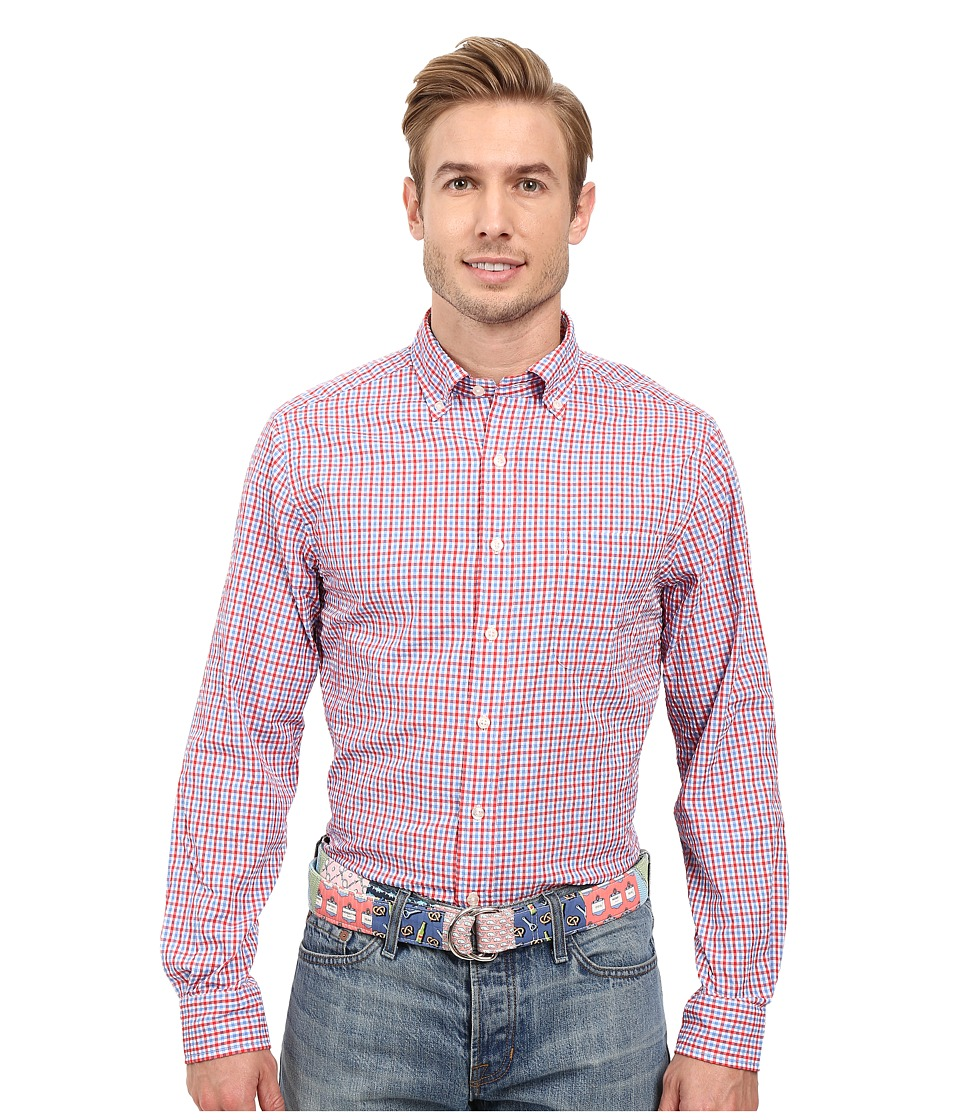 Vineyard Vines - Brigantine Gingham Slim Murray Shirt (Genoa) Men's Long Sleeve Button Up