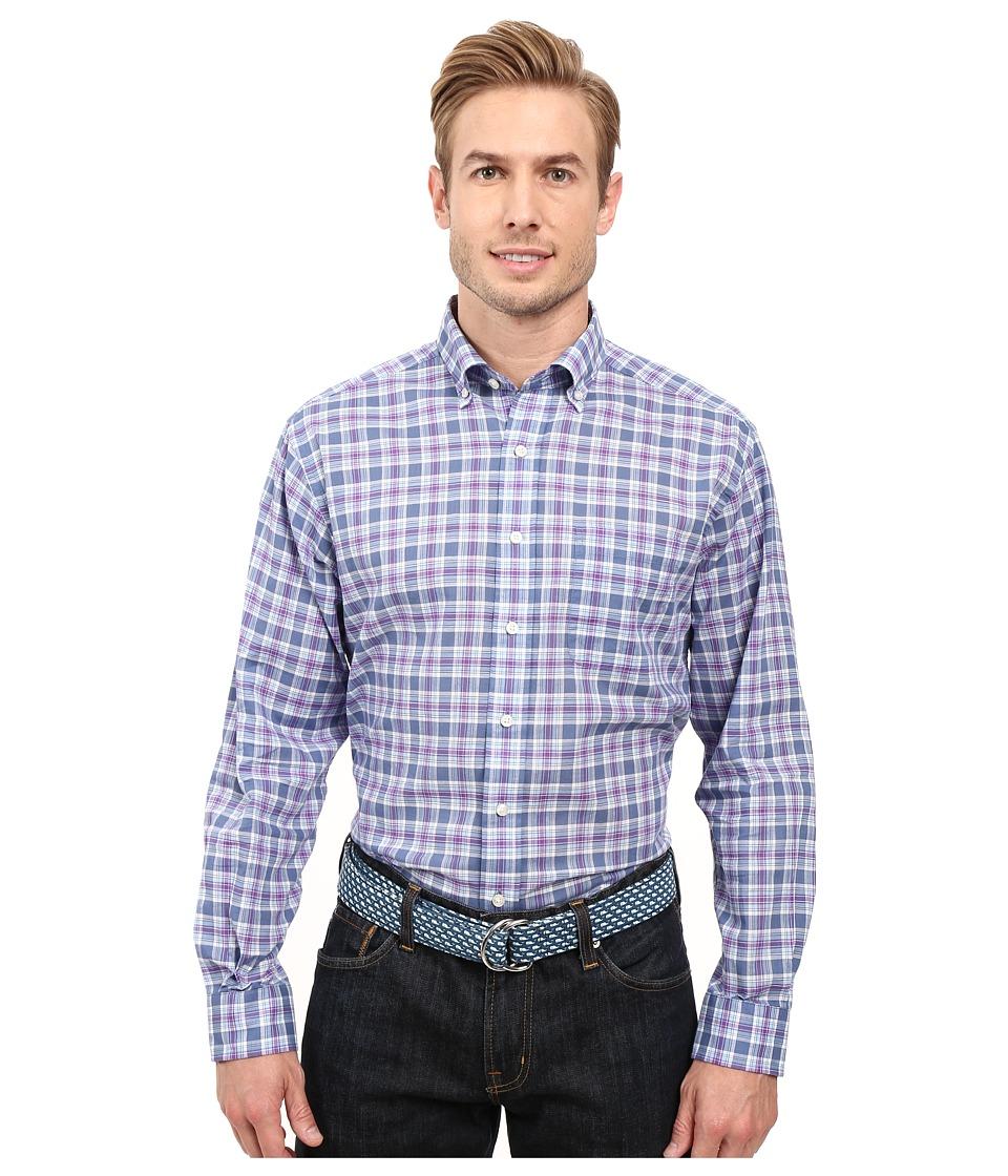 Vineyard Vines - Hawser Plaid Classic Murray Shirt (Flag Blue) Men's Long Sleeve Button Up