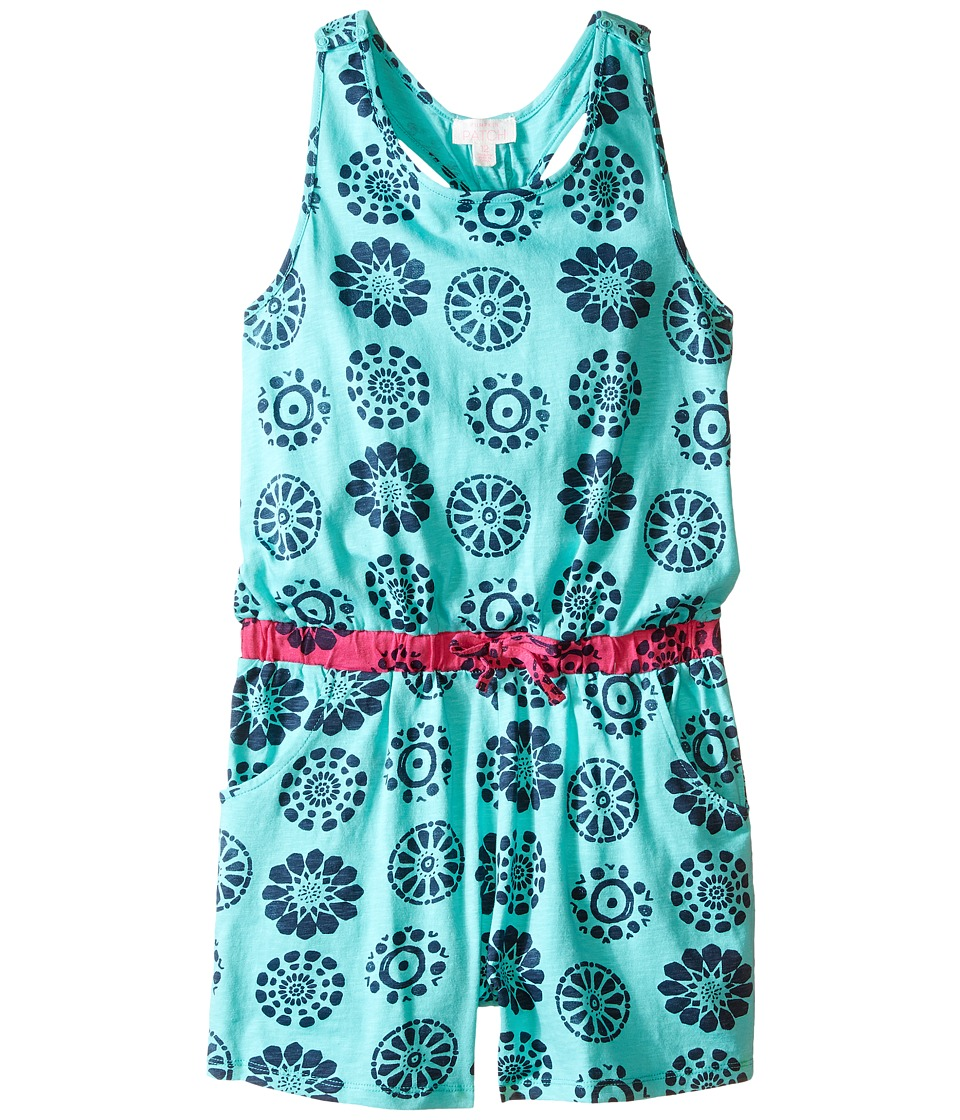 Pumpkin Patch Kids - Printed Playsuit (Big Kids) (Aqua Green) Girl's Jumpsuit & Rompers One Piece