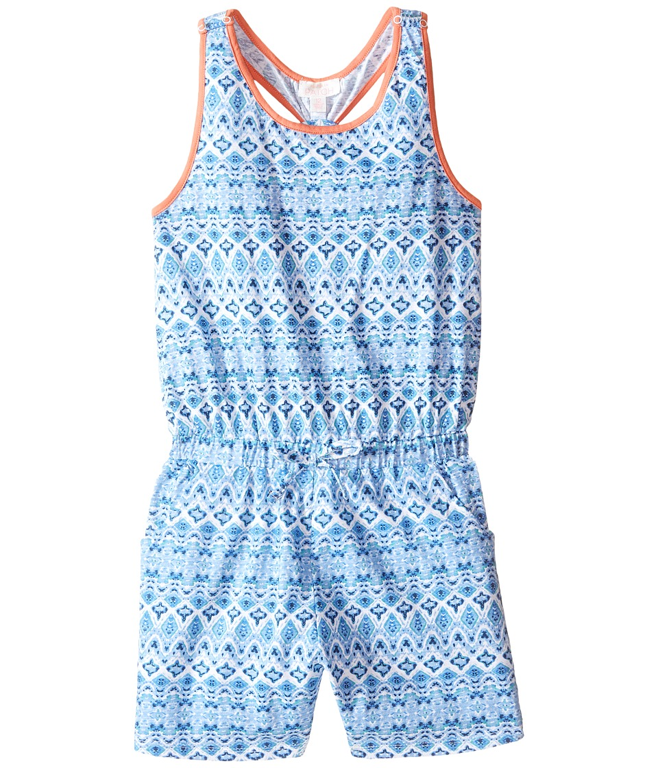 Pumpkin Patch Kids - Printed Playsuit (Big Kids) (Misty Jade) Girl