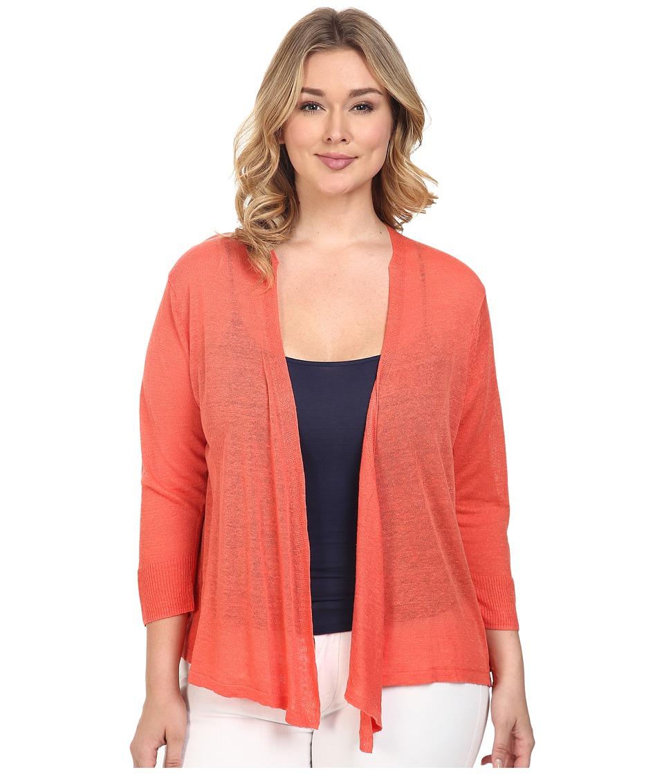 NIC+ZOE - Plus Size 4-Way Cardy (Coral Sun) Women's Sweater