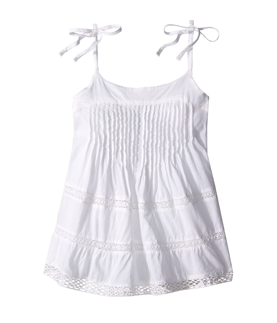 Pumpkin Patch Kids - Lace Panel Cami Top (Big Kids) (Clean White) Girl's Sleeveless
