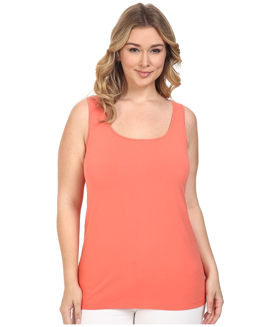 NIC+ZOE - Plus Size Perfect Scoop (Coral Sun) Women's Clothing