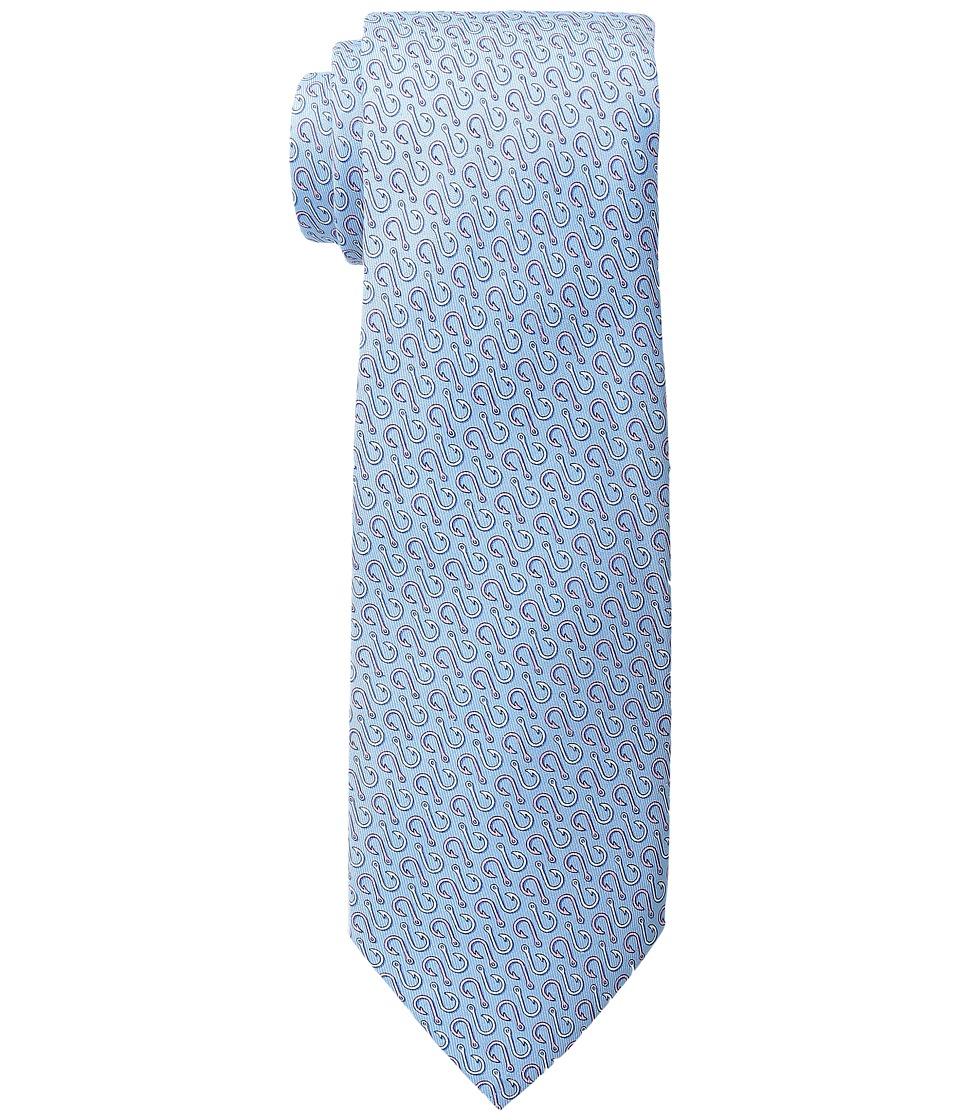 Vineyard Vines - Printed Tie-Hooks (Barth's Blue) Ties