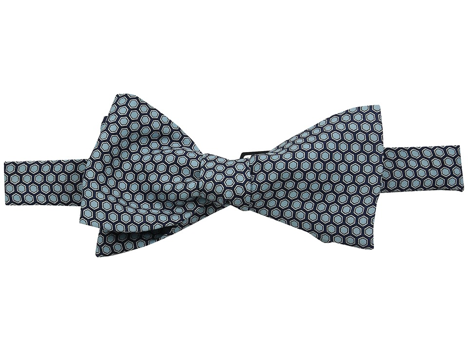 Vineyard Vines - Printed Bow Tie-Honeycomb Geo (Vineyard Navy) Ties