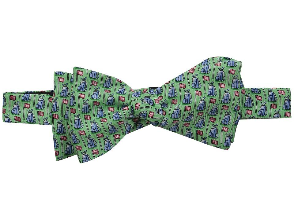 Vineyard Vines - Printed Bow Tie-Bags Flags (Antigua Green) Ties