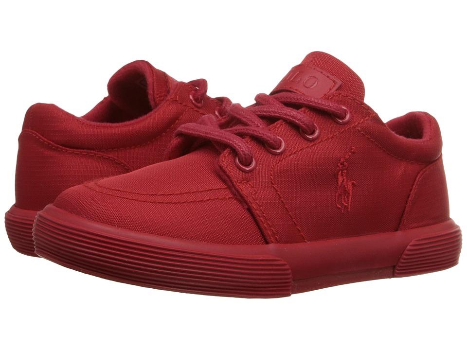 Polo Ralph Lauren Kids - Faxon II (Big Kid) (Triple Red Nylon/Red) Boy's Shoes