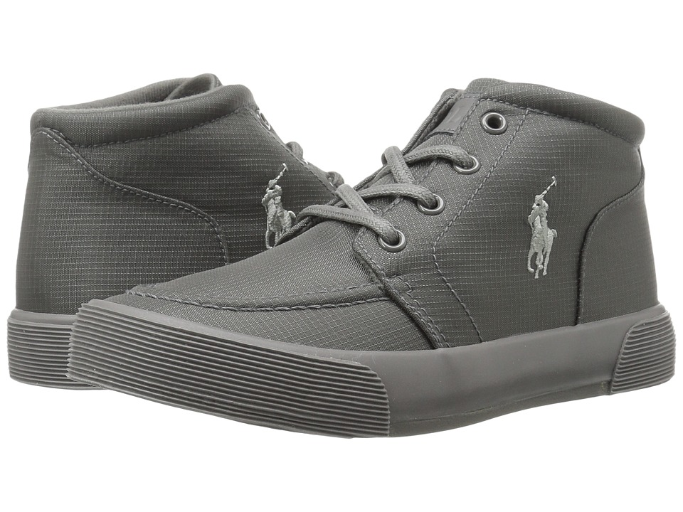 Polo Ralph Lauren Kids - Faxon II Mid (Big Kid) (Triple Grey Nylon/Grey Pony) Boy's Shoes
