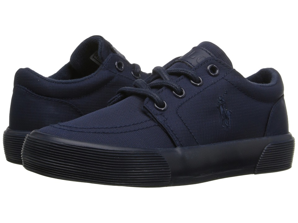 Polo Ralph Lauren Kids - Faxon II (Little Kid) (Black Ballistic Nylon/Royal) Boy's Shoes