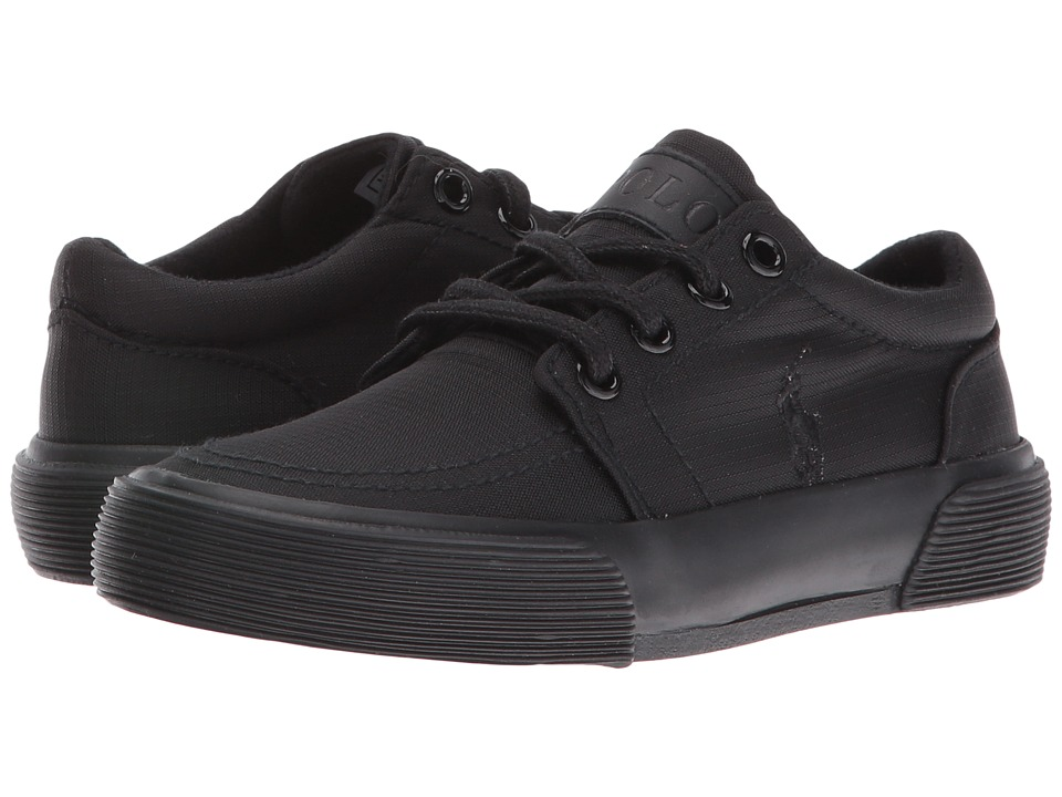 Polo Ralph Lauren Kids - Faxon II (Little Kid) (Triple Black Nylon/Black Pony) Boy's Shoes
