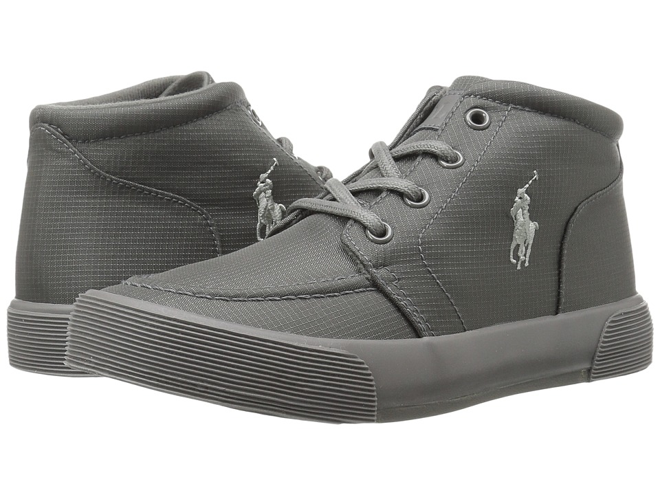 Polo Ralph Lauren Kids - Faxon II Mid (Little Kid) (Triple Grey Nylon/Grey Pony) Kid's Shoes