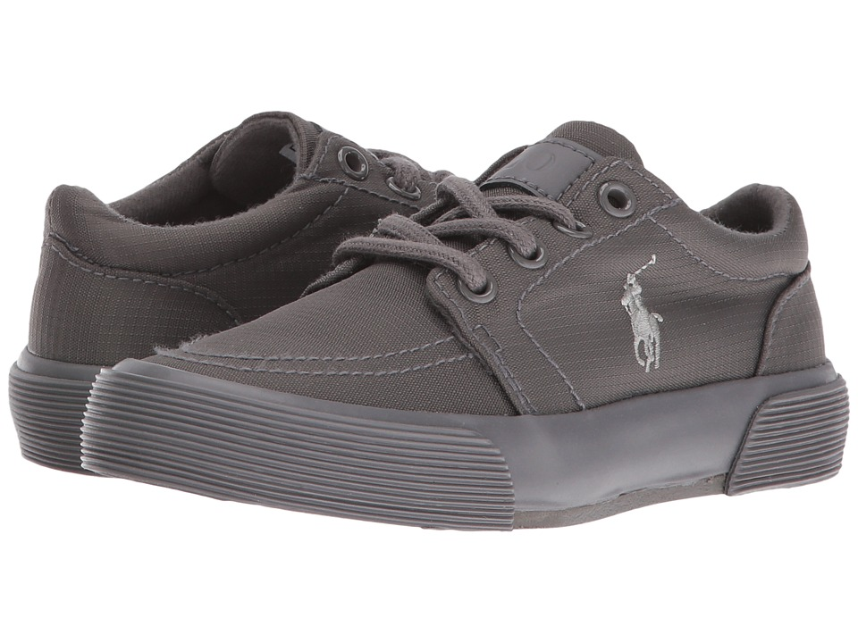 Polo Ralph Lauren Kids - Faxon II (Little Kid) (Triple Grey Nylon/Grey Pony) Boy's Shoes