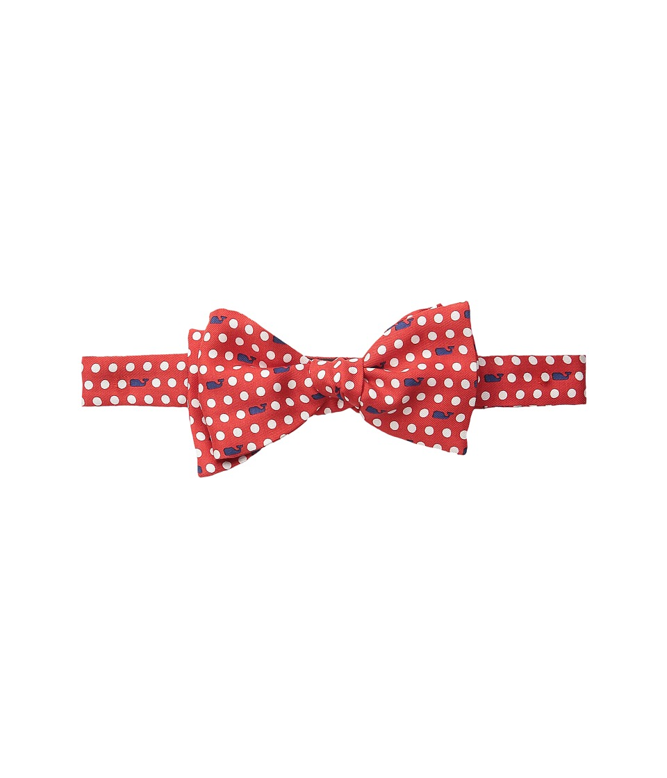 Vineyard Vines - Printed Bow Tie-Polka Dot Whale (Lighthouse Red) Ties