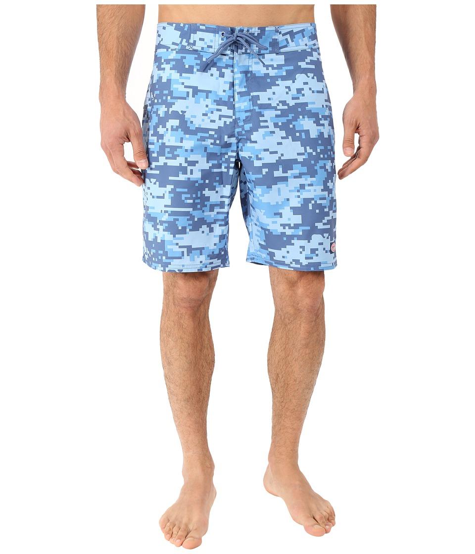 Vineyard Vines - Digi Camo Whale Boardshorts (Flag Blue) Men's Swimwear