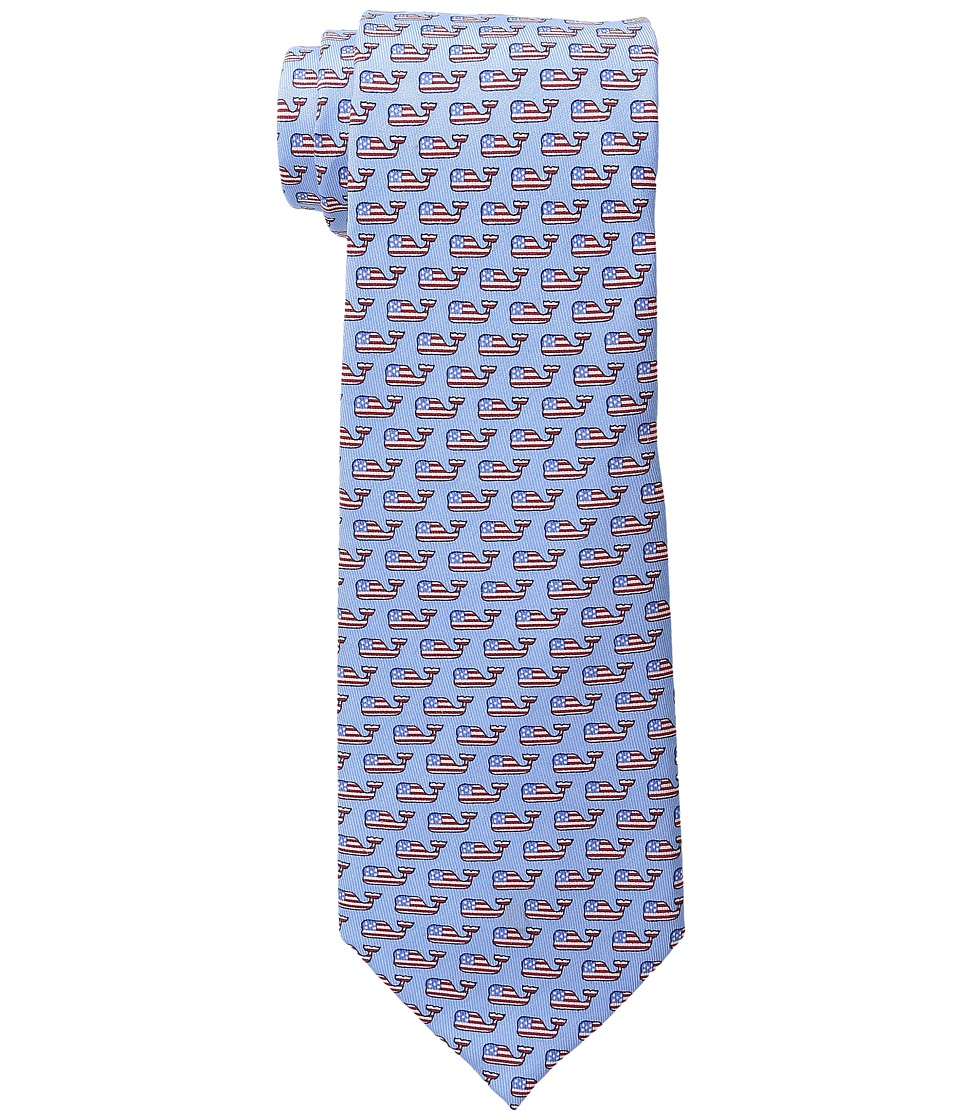 Vineyard Vines - Whales and Stripes (Maui Blue) Ties