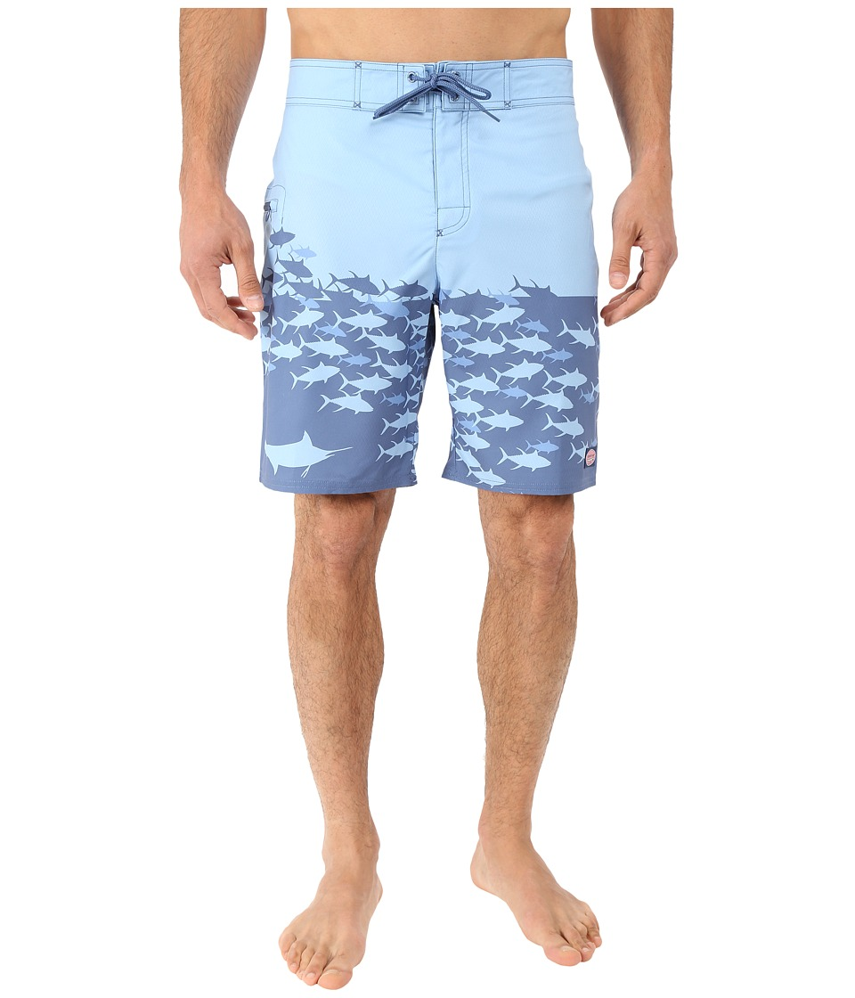 Vineyard Vines - Fish Chain Boardshorts (Flag Blue) Men's Swimwear