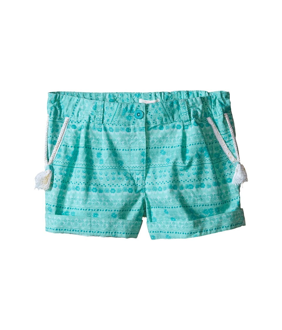 Pumpkin Patch Kids - Pleat Front Shorts (Big Kids) (Aqua Green) Girl's Shorts