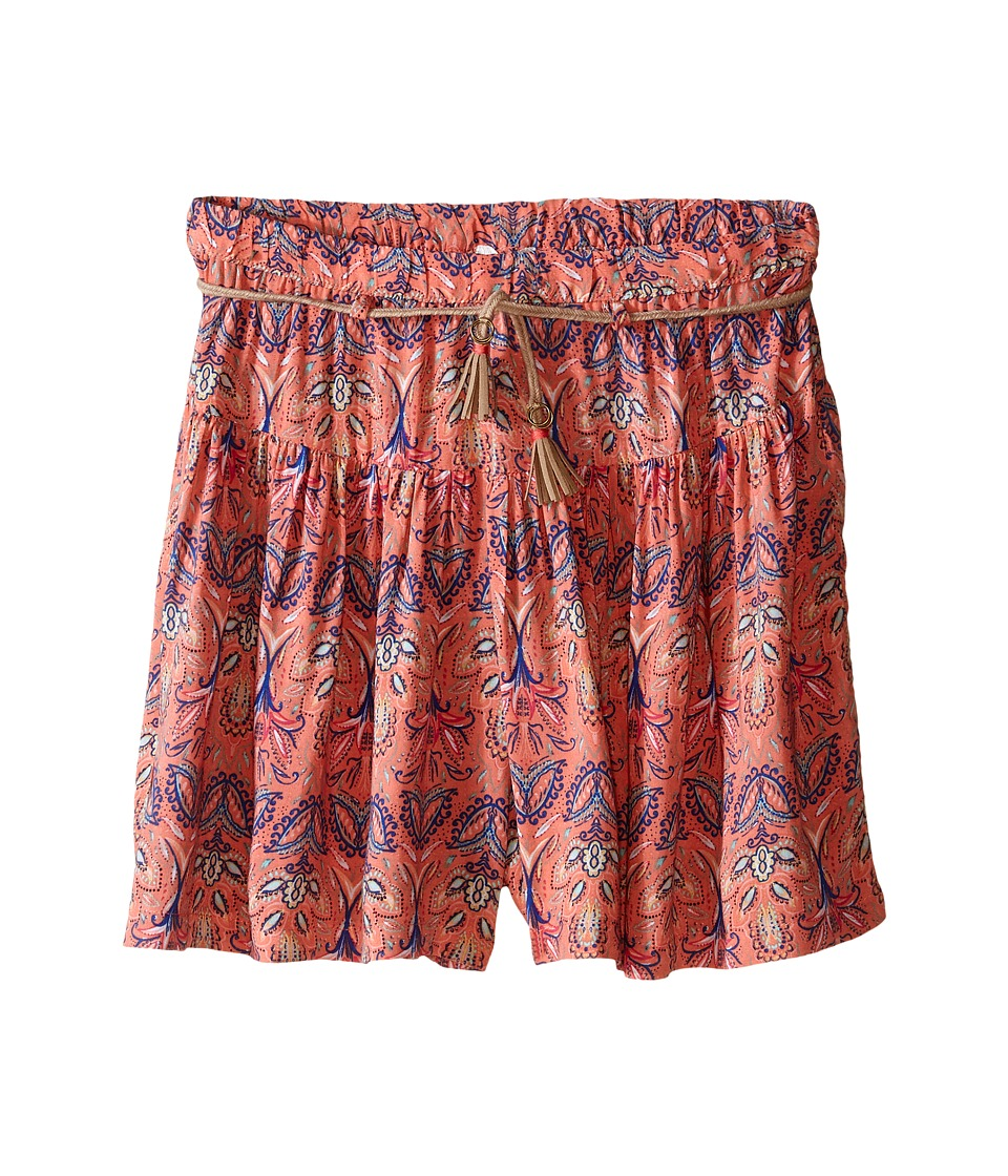 Pumpkin Patch Kids - Tile Print Skort (Big Kids) (Melon) Girl's Skort