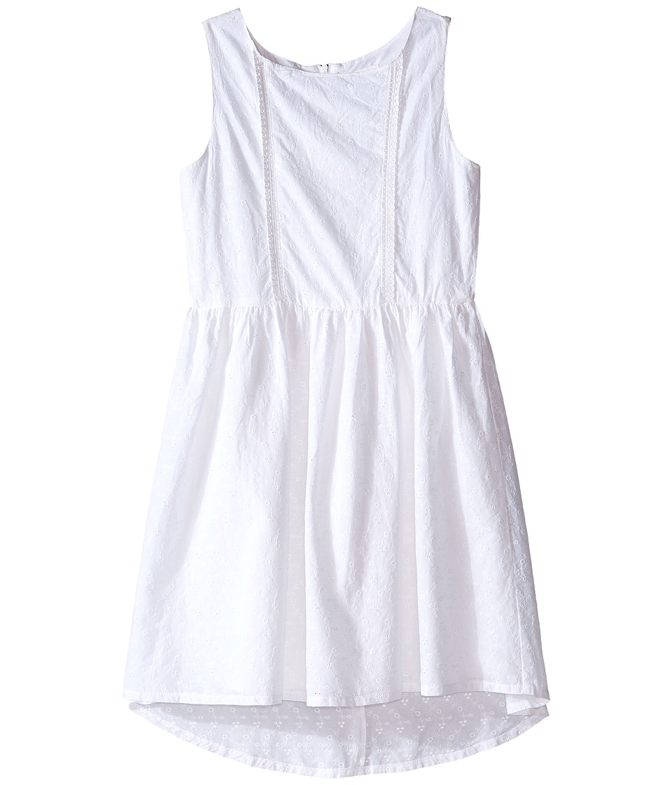 Pumpkin Patch Kids - Anglaise Dress (Big Kids) (Clean White) Girl's Dress