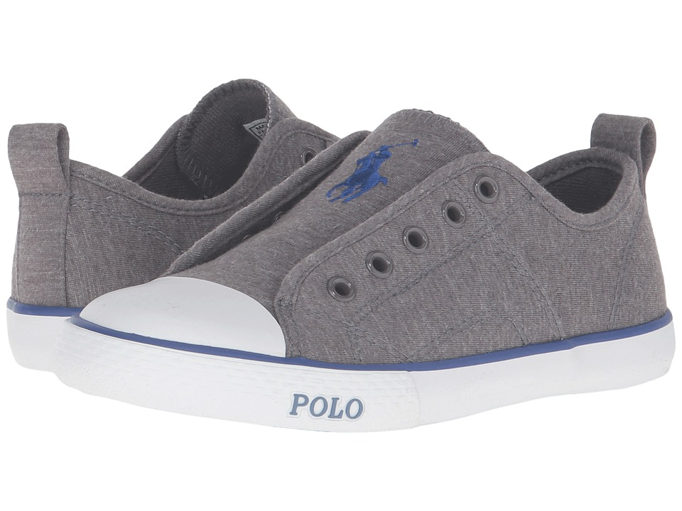 Polo Ralph Lauren Kids - Raymond Slip-On (Little Kid) (Grey Winter Jersey/Navy Pony) Boy's Shoes