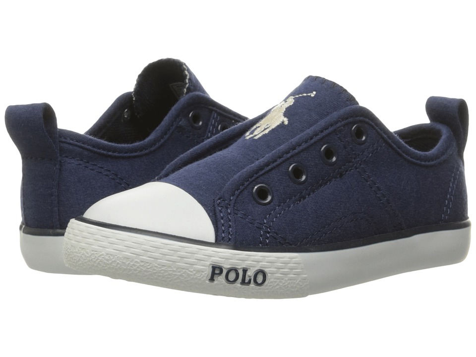 Polo Ralph Lauren Kids - Raymond Slip-On (Little Kid) (Navy Winter Jersey/Navy Pony) Boy's Shoes