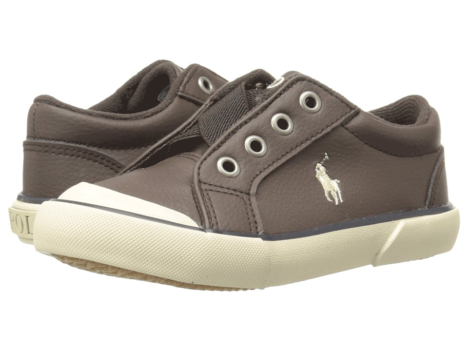 Polo Ralph Lauren Kids - Greggner (Toddler) (Chocolate Tumbled/Cream Pony) Boys Shoes