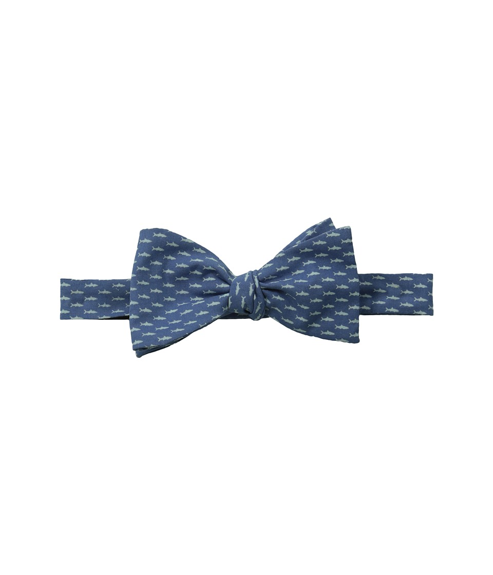 Vineyard Vines - Woven Bow-Micro Fish (Flag Blue) Ties