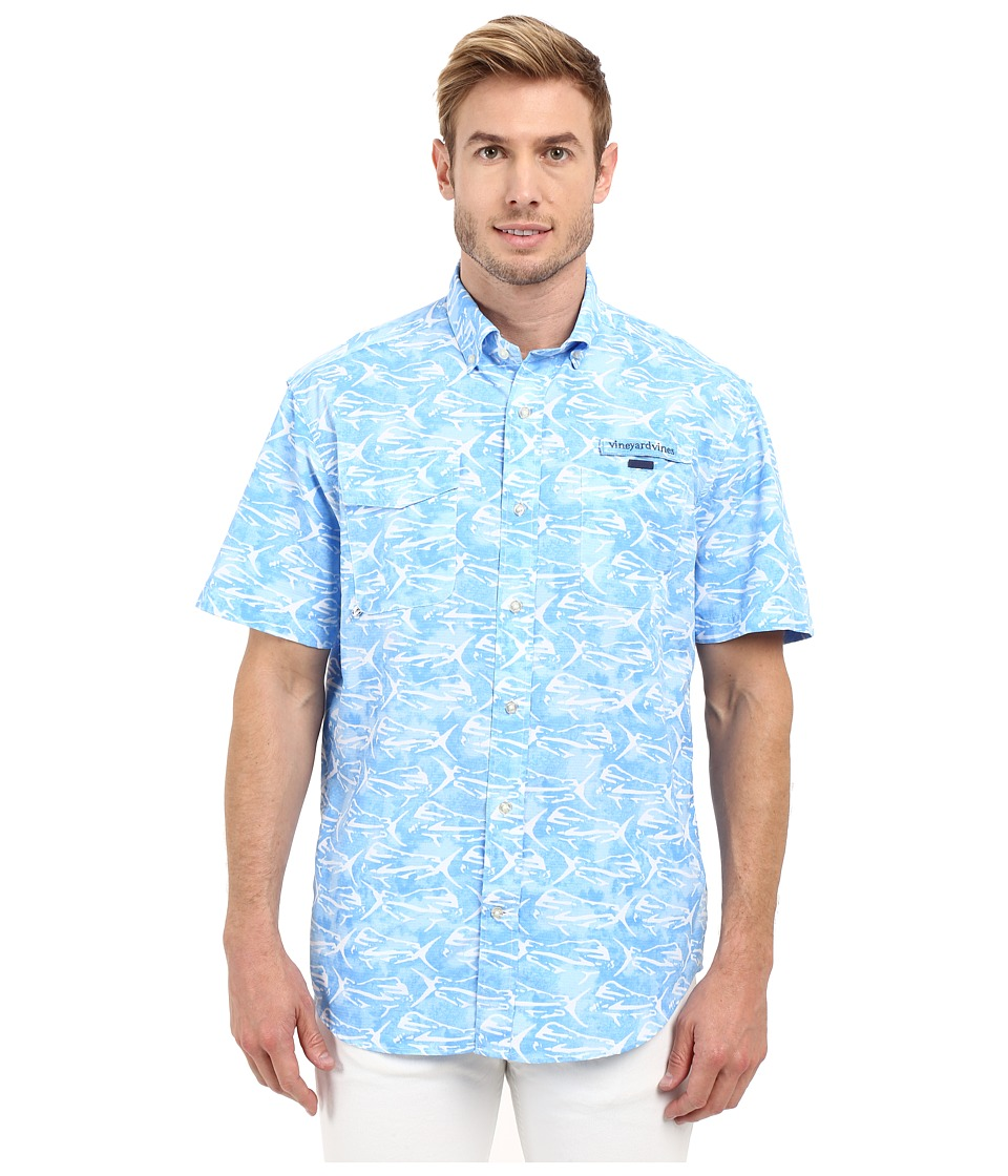 Vineyard Vines - Dolphinfish Print Harbor Shirt (Jake Blue) Men's Short Sleeve Button Up