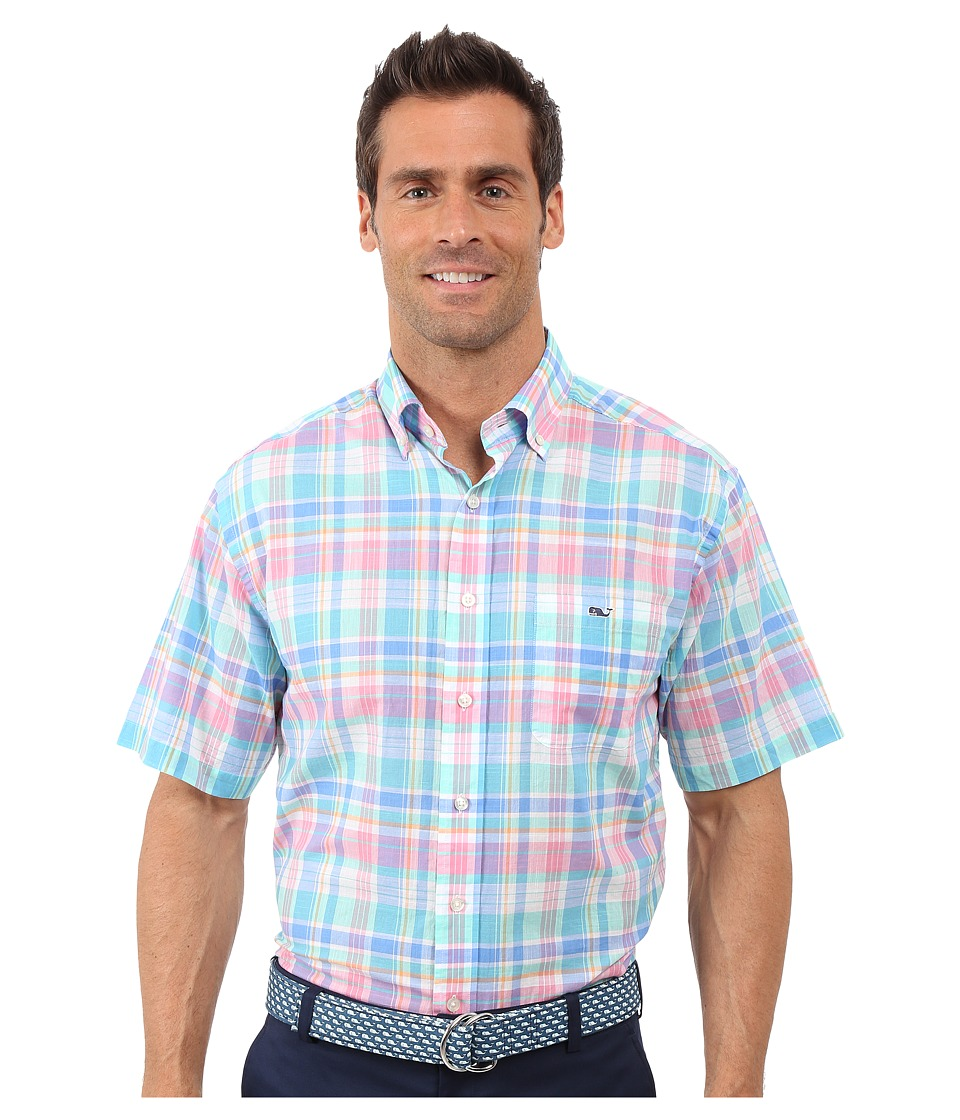 Vineyard Vines - Chipping Green Short Sleeve Tucker Shirt (Bahama Breeze) Men's Short Sleeve Button Up