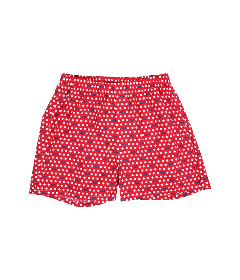 Vineyard Vines - Boxer Shorts-Whale Polka Dot (Lighthouse Red) Men's Underwear
