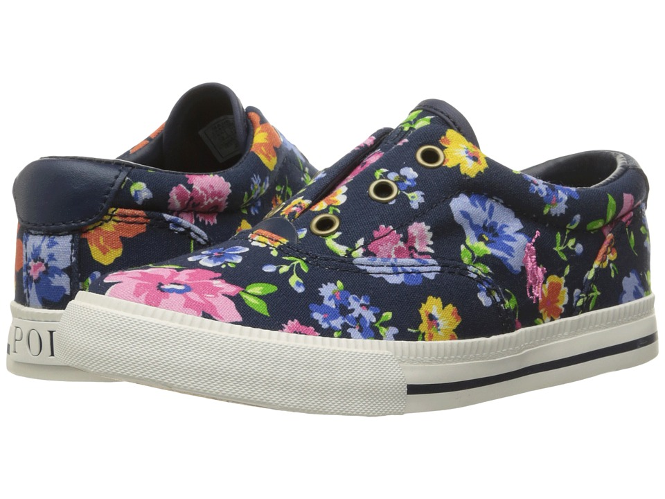 Polo Ralph Lauren Kids - Vito II (Little Kid) (Navy Floral Canvas) Girl's Shoes