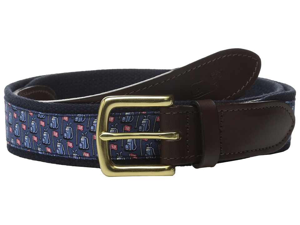 Vineyard Vines - Golf Bags Canvas Club Belt (Moonshine) Men's Belts
