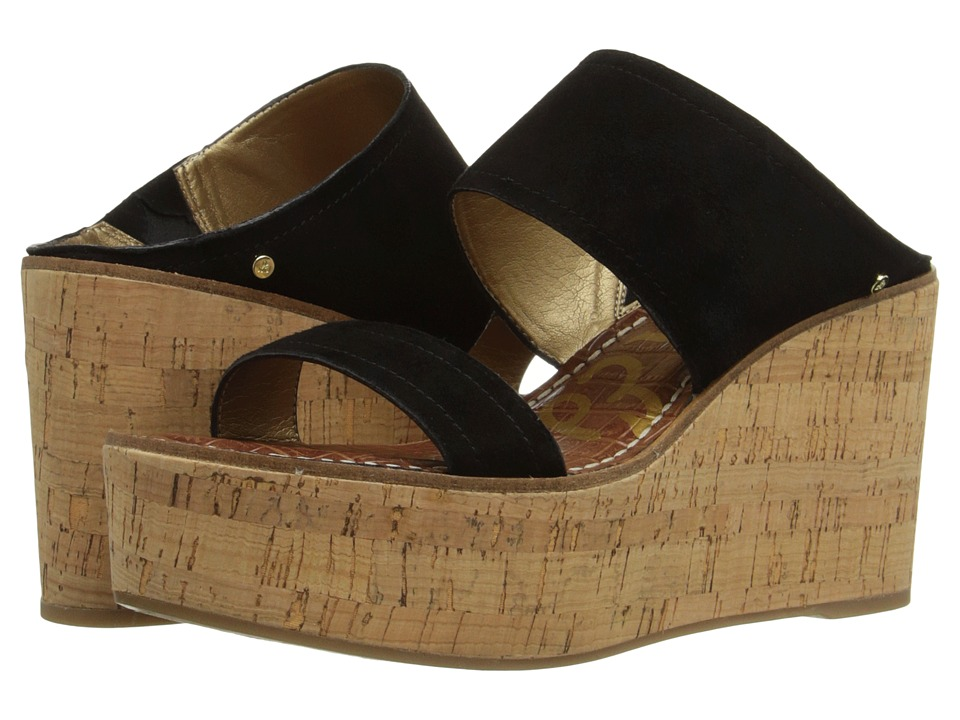 Sam Edelman - Dali (Black Kid Suede Leather) Women's Wedge Shoes