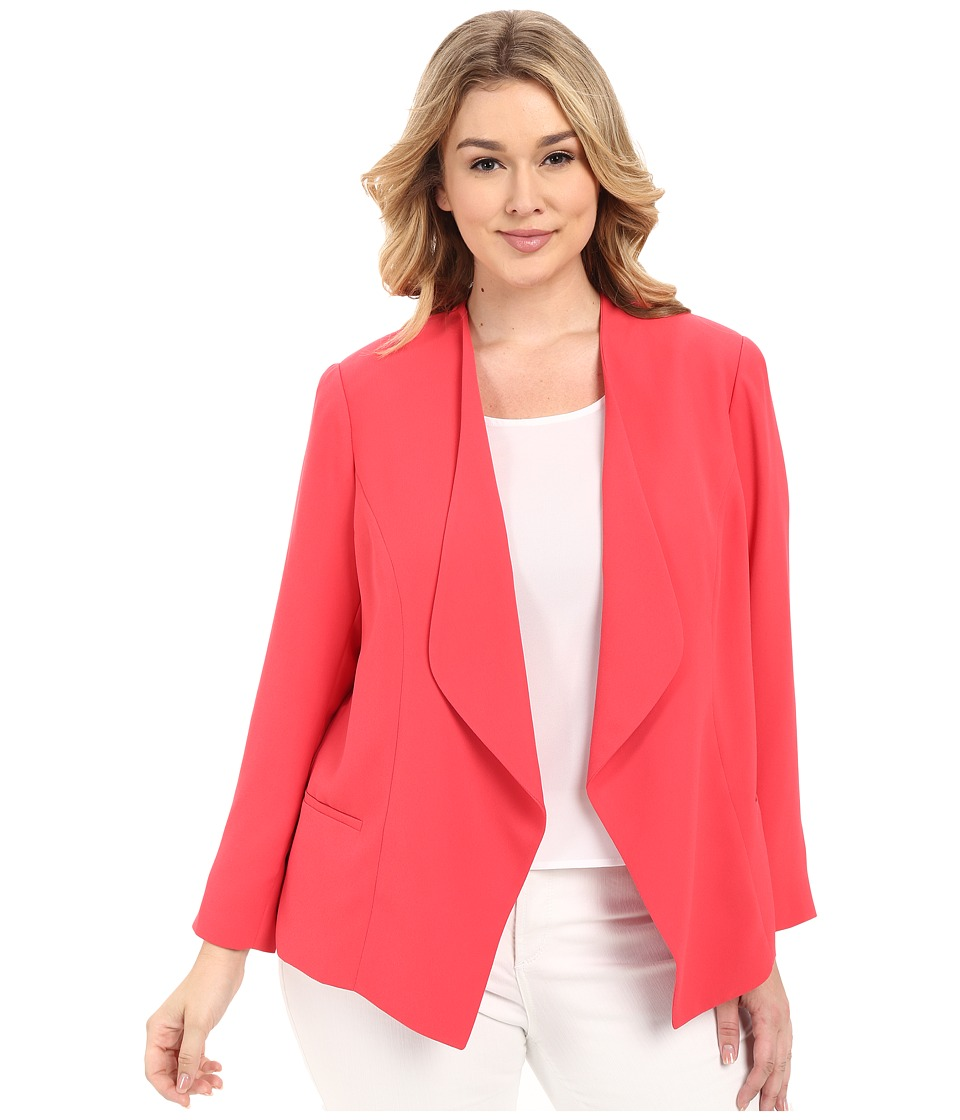 Vince Camuto Specialty Size - Plus Size Drape Front Blazer (Guava Fruit) Women's Jacket plus size,  plus size fashion plus size appare