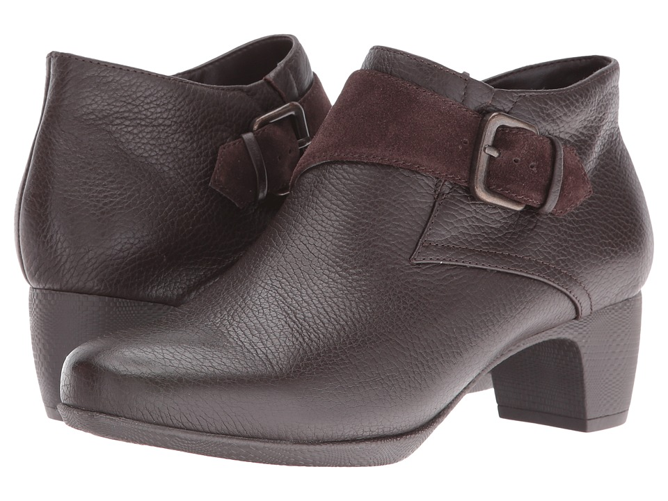 SoftWalk Imlay (Dark Brown Veg Tumbled Leather/Cow Suede) Women