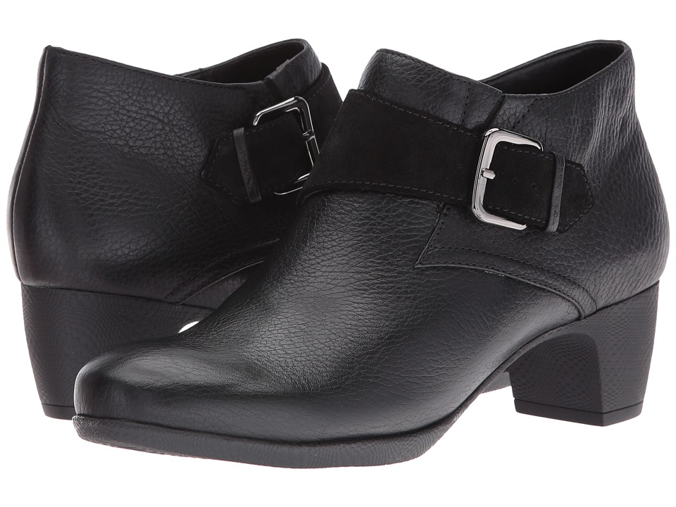 SoftWalk Imlay (Black Veg Tumbled Leather/Cow Suede) Women